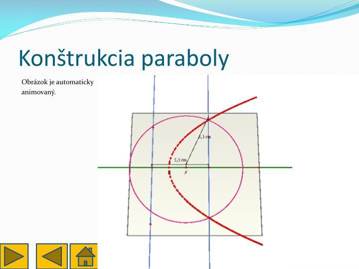 Konštrukcia paraboly