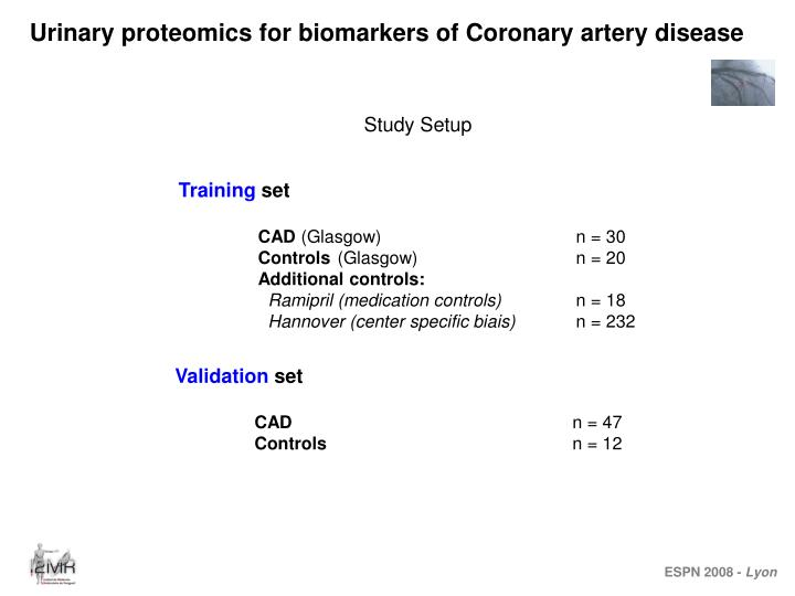 Urinary proteomics for biomarkers of Coronary artery disease