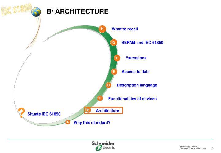 B/ ARCHITECTURE