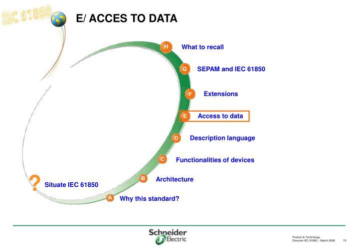 E/ ACCES TO DATA