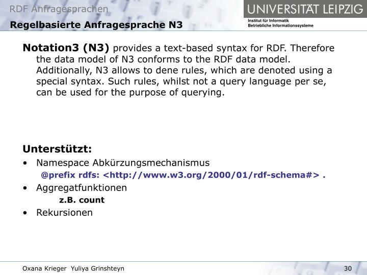 Regelbasierte Anfragesprache N3