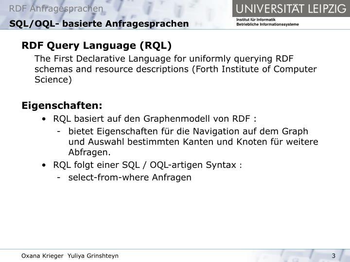 SQL/OQL- basierte Anfragesprachen