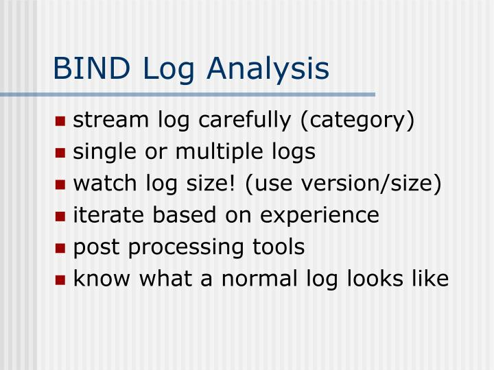 BIND Log Analysis