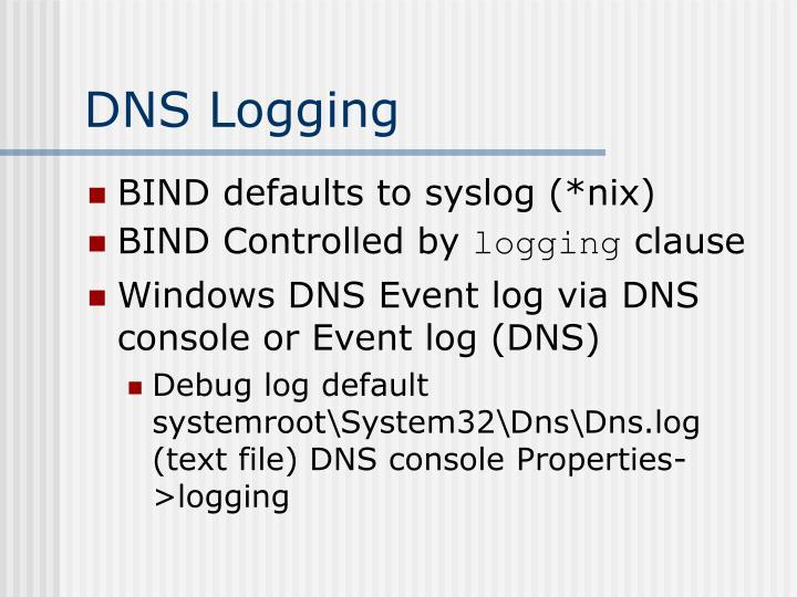 DNS Logging