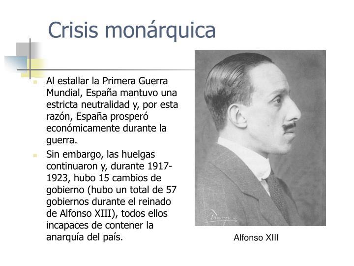Crisis monárquica