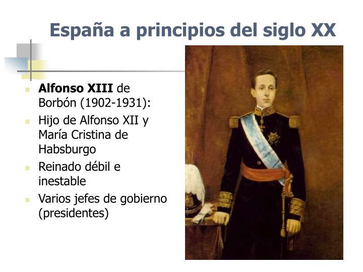 España a principios del siglo XX