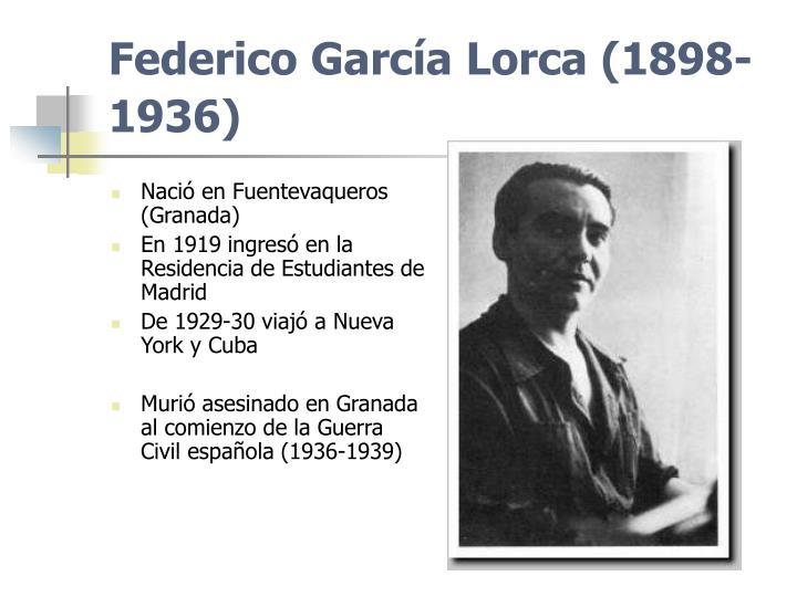 Federico García Lorca (1898-1936)
