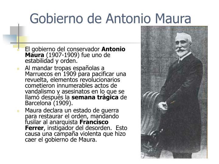 Gobierno de Antonio Maura