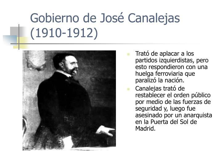Gobierno de José Canalejas (1910-1912)