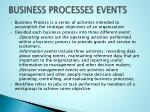 business processes events