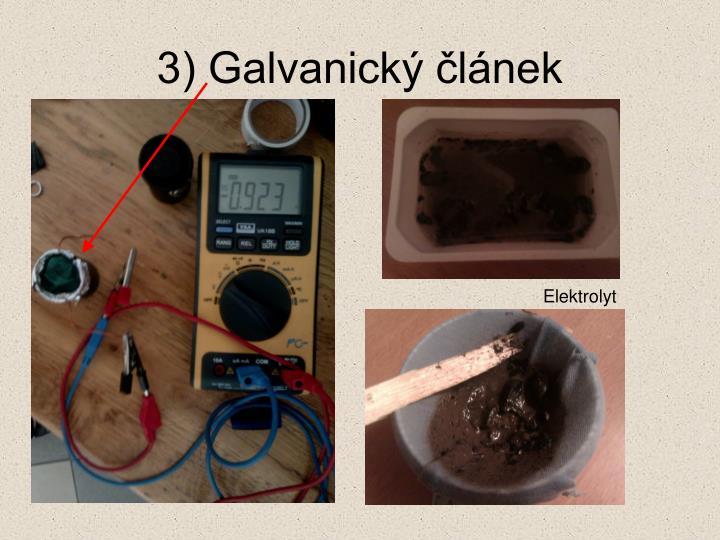3) Galvanický článek