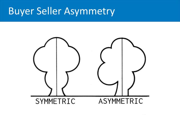 Buyer Seller Asymmetry