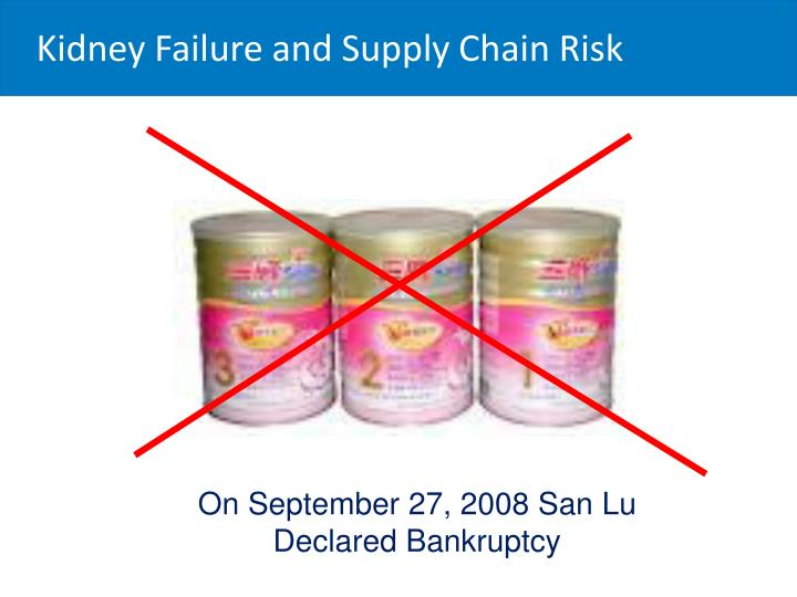 Kidney Failure and Supply Chain Risk
