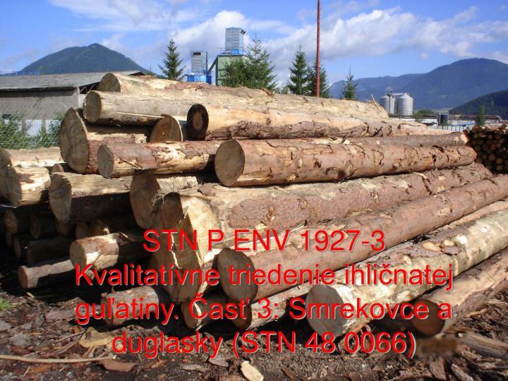 STN P ENV 1927-3