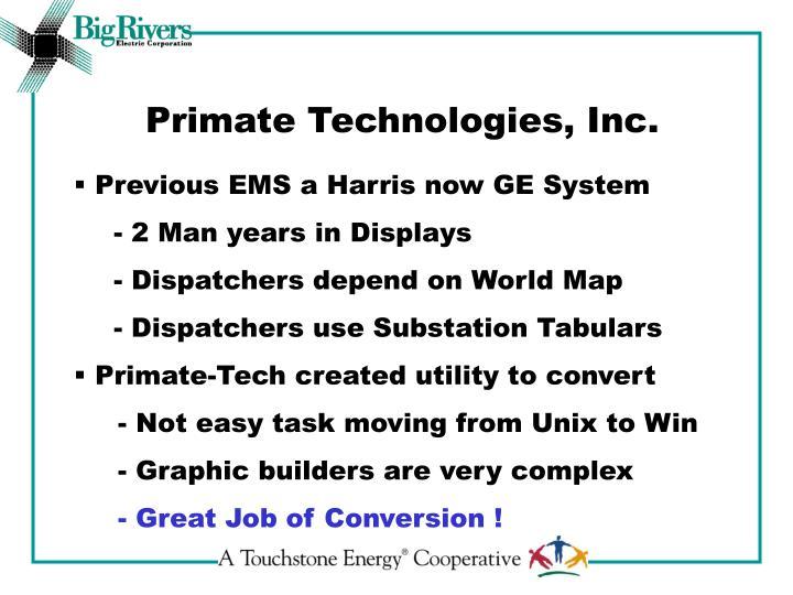 Primate Technologies, Inc.