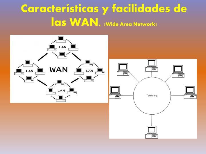 Características y facilidades de las WAN.