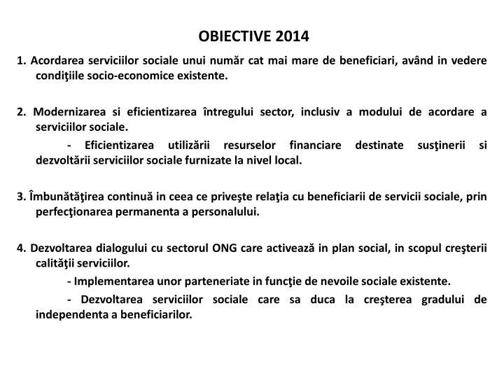 OBIECTIVE 2014