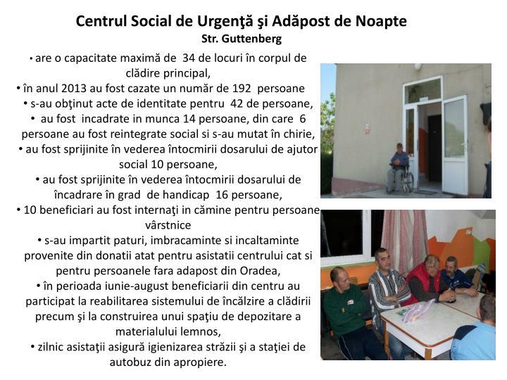Centrul Social de Urgenţă şi Adăpost de Noapte