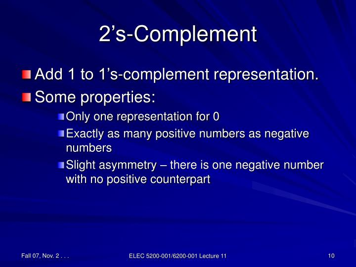 2's-Complement
