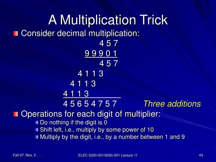 A Multiplication Trick