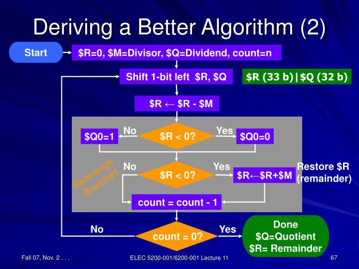 Deriving a Better Algorithm (2)