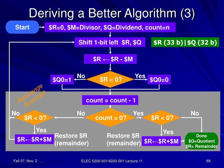 Deriving a Better Algorithm (3)
