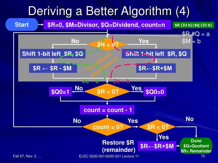 Deriving a Better Algorithm (4)