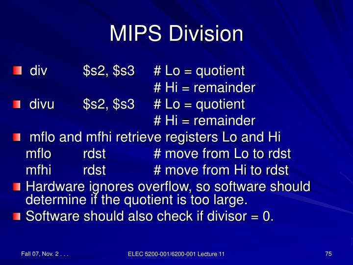 MIPS Division