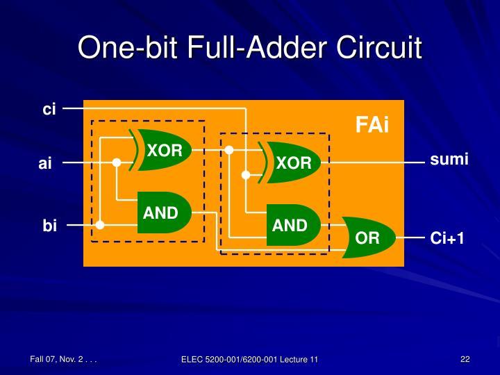 One-bit Full-Adder Circuit