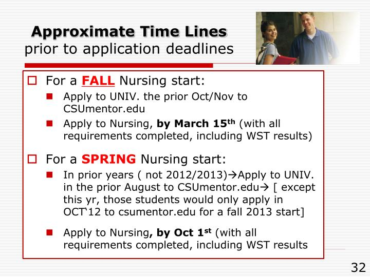 Approximate Time Lines