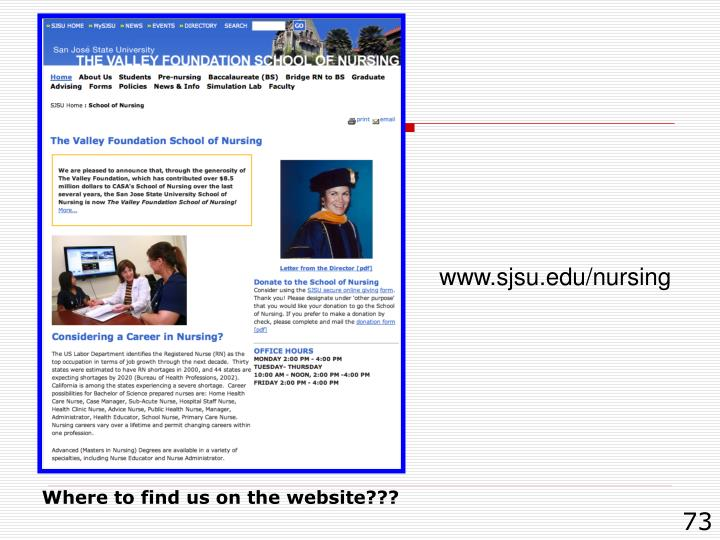 www.sjsu.edu/nursing