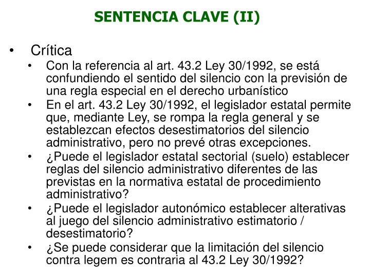 SENTENCIA CLAVE (II)