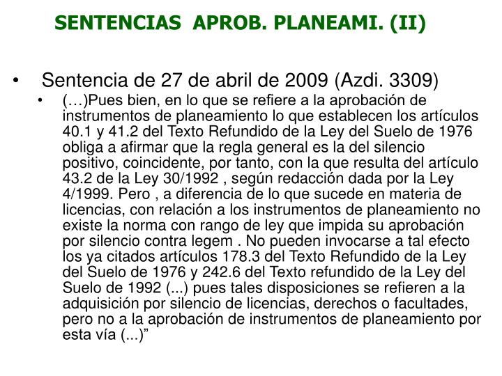 SENTENCIAS  APROB. PLANEAMI. (II)