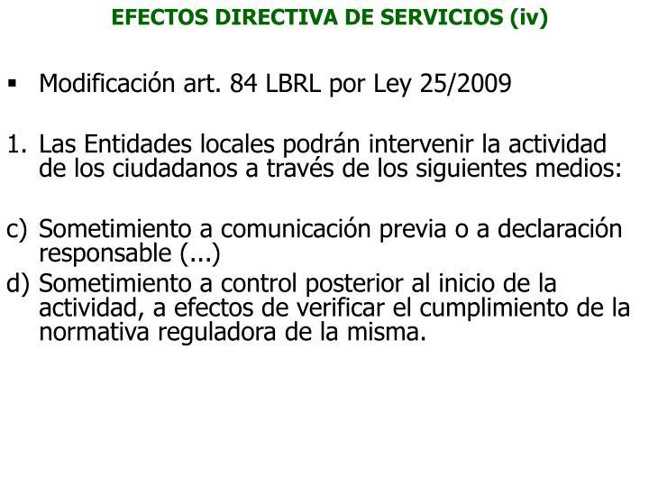 EFECTOS DIRECTIVA DE SERVICIOS (iv)