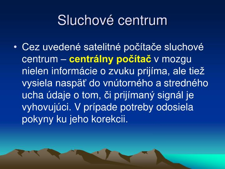 Sluchové centrum