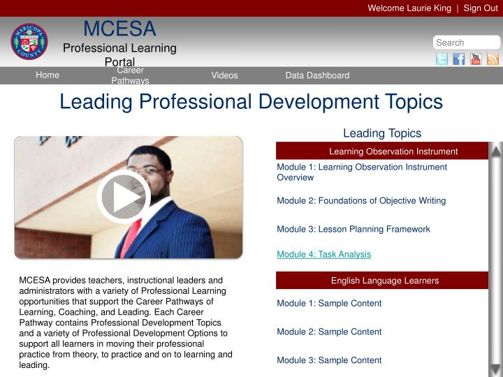 Leading Professional Development Topics