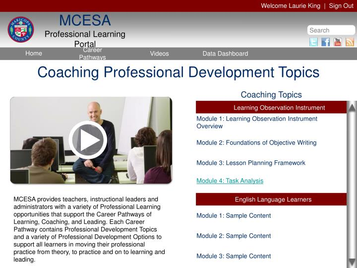 Coaching Professional Development Topics