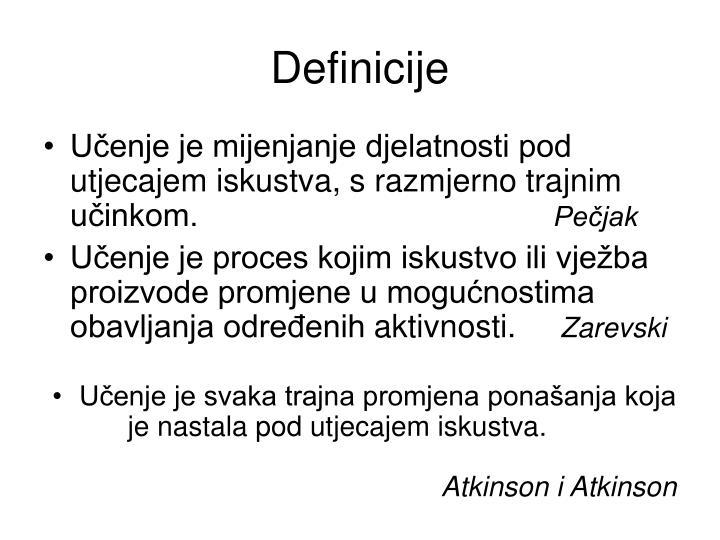 Definicije