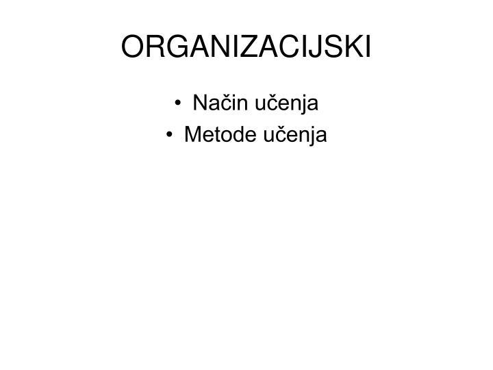 ORGANIZACIJSKI