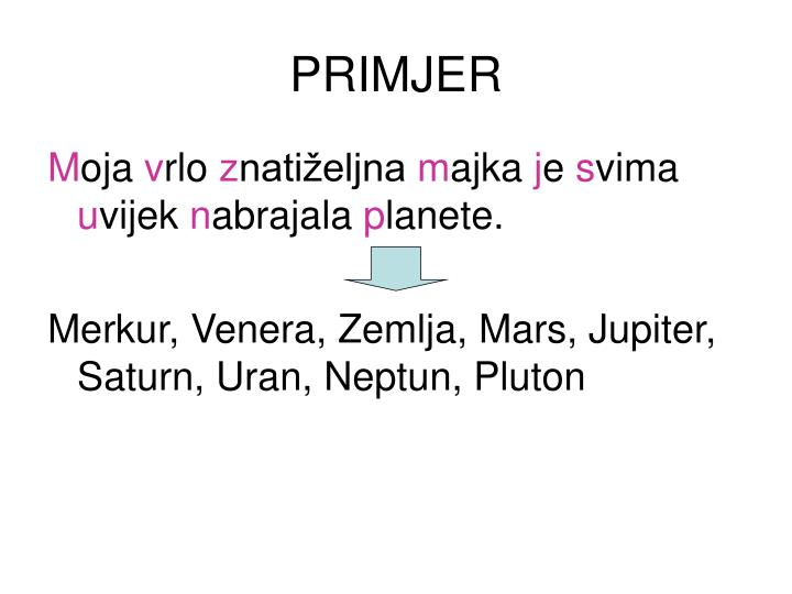 PRIMJER