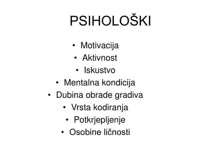 PSIHOLOŠKI