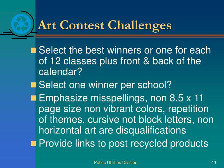 Art Contest Challenges