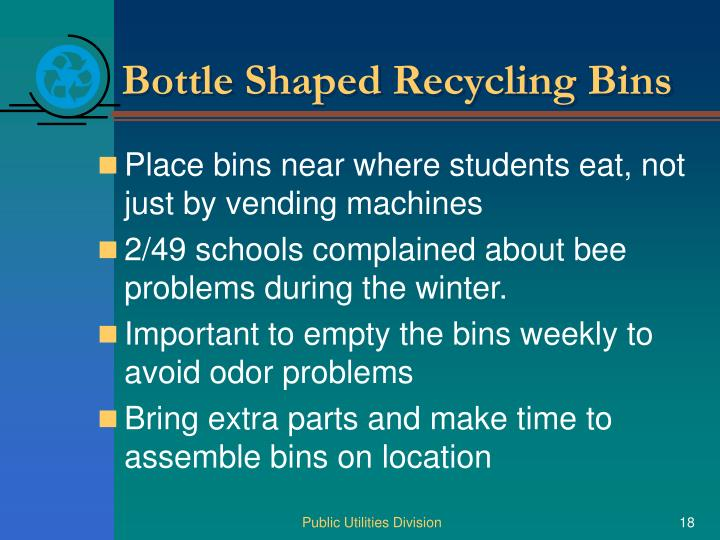 Bottle Shaped Recycling Bins