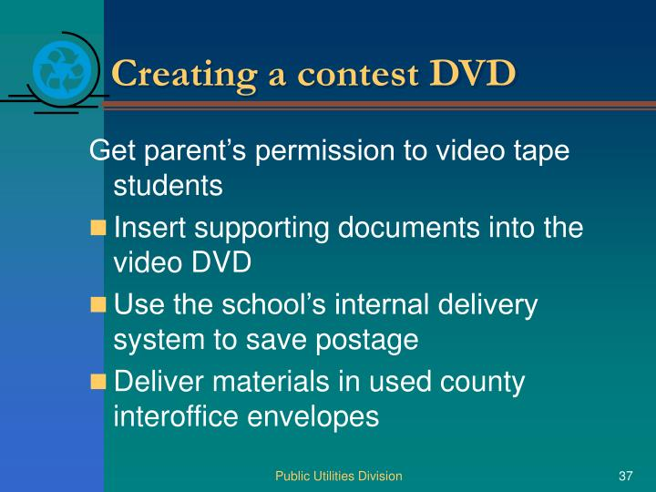 Creating a contest DVD