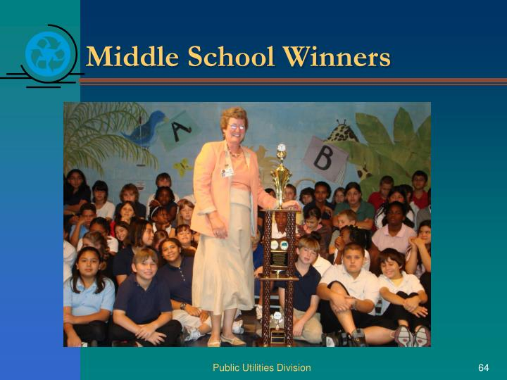 Middle School Winners