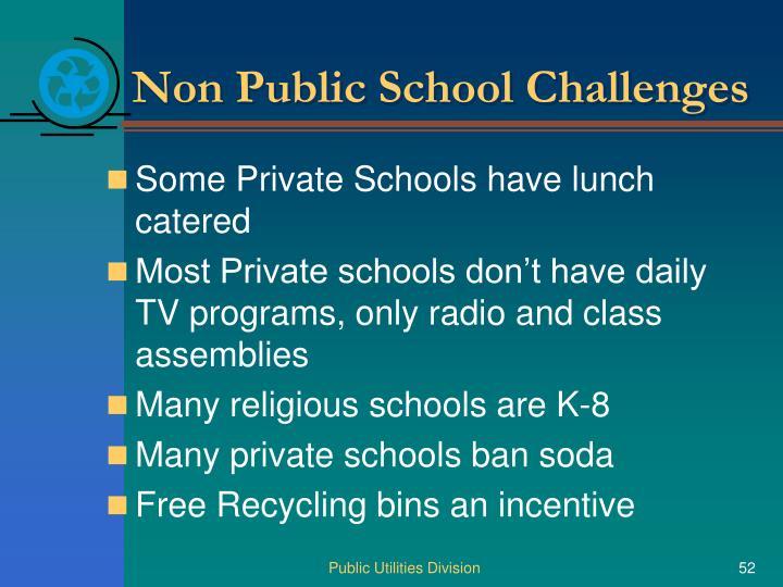 Non Public School Challenges