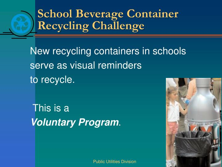 School Beverage Container Recycling Challenge