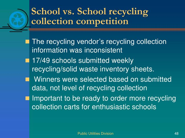 School vs. School recycling collection competition