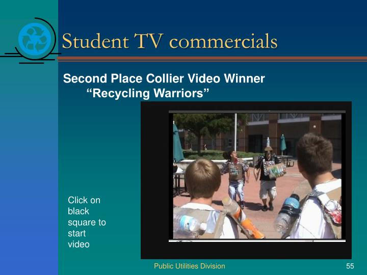 Student TV commercials