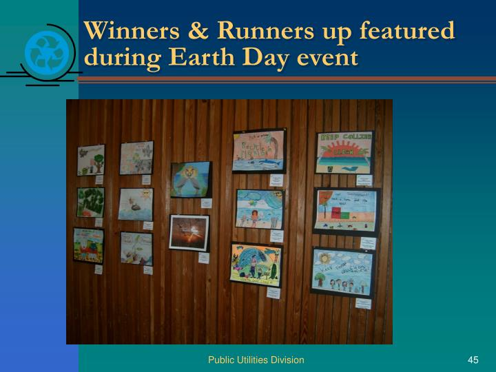 Winners & Runners up featured during Earth Day event